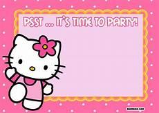 Hello Kitty Birthday Template Free Printable Hello Kitty Birthday Invitations Free