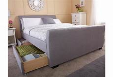 gfw furniture hannover fabric storage bedstead 135cm