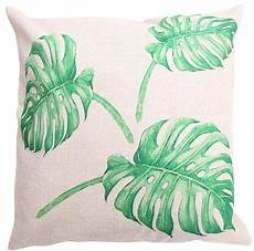 bamboo leaves decorative linen pillow cover 25 patterns