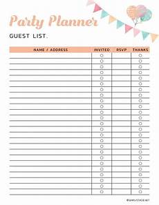 Party Planning Templates 9 Free Party Planning Printables To Keep You Organized