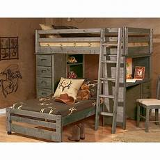 rustic driftwood loft bed fort rc willey