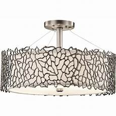 Pewter Pendant Light Fitting Dual Mount Ceiling Light For High Or Low Ceilings In