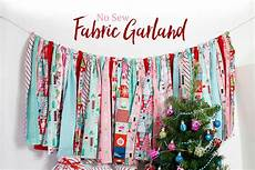 no sew fabric garland use strips of festive fabric to