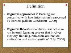 Cognitive Learning Definition Cognitive Learning Theory