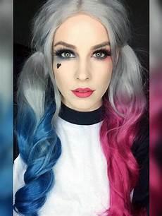 Half Pink Half Blue Evahair Quot Harley Quinn Quot Inspired Hair Color Half Blue Half