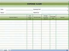 Expense Claim Form Template Excel Expense Claims Form Expense Claim Excel Template