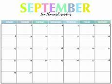 Free Printable September Calendar Printable September Calendar For 2019 Pdf Magic Calendar