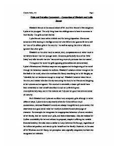 Pride Essay Free Essays On Pride And Prejudice Pride And Prejudice