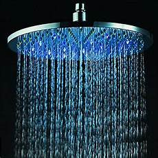 Shower Head With Lights 8 Quot Inch Rgb Led Light Stainless Steel Rain Shower Head