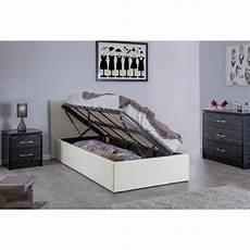 boston white 3ft side lift ottoman storage bed ark furniture