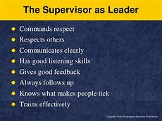 What Makes A Great Supervisor Supervisor Effectiveness
