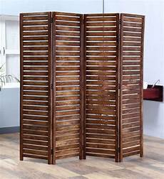 buy safor solid wood 4 panel free standing room divider in