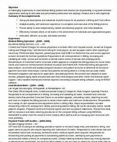 Medical Billing Specialist Resume Sample Medical Customer Service Resume 6 Examples In