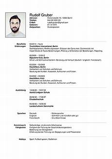 Tabular Cv Template Format Of German Tabular Cv Question Preplounge Com