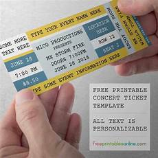 Concert Ticket Invitation Template Free Free Printable Concert Tickets Free Printables Online