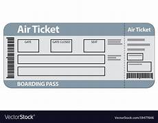 Airline Ticket Template Free Airplane Ticket Template