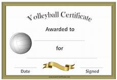 Volleyball Certificate Templates Volleyball Certificate Template Formal Volleyball