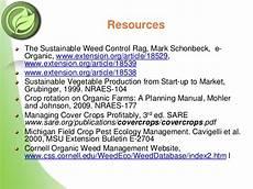 Organic Weed Management
