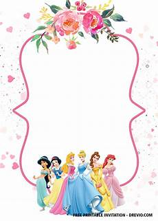 Disney Birthday Invitation Templates Free Disney Princess Invitation Template For Your Little