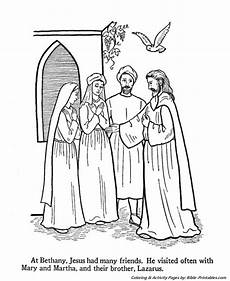 Jesus Teaches Coloring Pages Jesus Visits Mary Martha