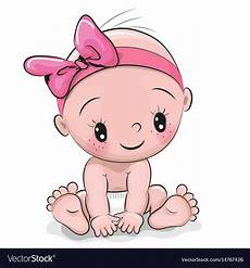 Cartoon Babies Pictures Cute Cartoon Baby Girl Royalty Free Vector Image