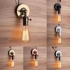 Wall Socket Light E27 E26 Modern Edison Vintage Ceiling Light Wall Lamp Bulb