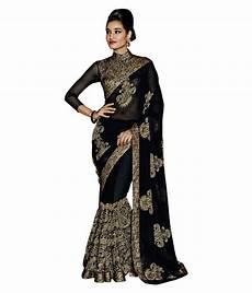 Black Georgette Designer Saree Sareeshop Designer Sarees Black Georgette Saree Buy