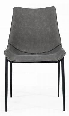 modrest frasier 2 washed grey eco leather side chairs by