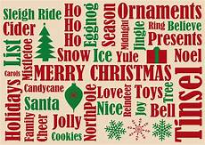 Word Christmas Card Many Christmas Words Holiday Greeting Cards By Cardsdirect