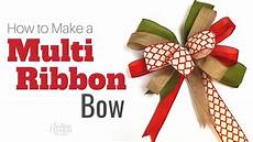How To Fold Ribbon How To Tie A Bow Using Multiple Ribbons Youtube