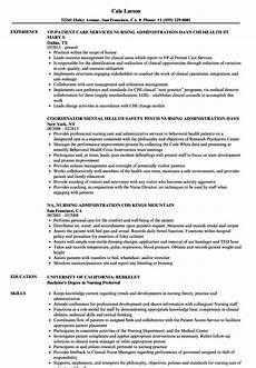 Nursing Administrator Resume Nursing Administration Resume Samples Velvet Jobs