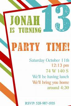 Party Invitation Card Template Free Printable Birthday Invitation Templates
