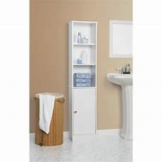 wooden storage cabinet bathroom white linen tower