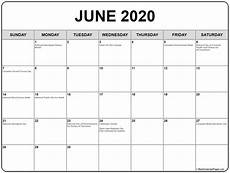 June 2020 Calendar With Holidays Collection Of June 2020 Calendars With Holidays