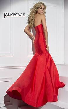 Tony Bowls Dress Size Chart Strapless Trumpet Dress With A Sweetheart Neckline Click