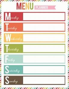 Menu Planner Template Free Printable Free Printable Menu Planner Organization Pinterest