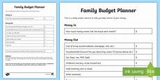 Simple Family Budget Family Budget Planning Template Young People Amp Families