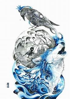 aquarelle fantasie welten aquarell vorlagen