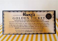 Golden Ticket Invitation Willy Wonka Golden Ticket Invitation Digital Printable