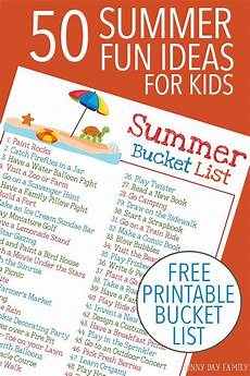 Babysitting Ideas For Summer 50 Summer Fun Ideas For Kids With A Free Printable Summer