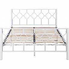 aingoo bed frame solid 4ft 6 metal bed with wood