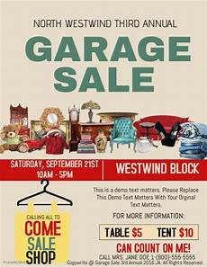 Garage Sale Flyers Examples Garage Sale Template Postermywall