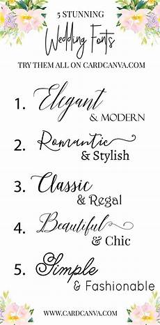 Elegant Wedding Fonts Try Those Beautiful Wedding Fonts With Calligraphy Fonts