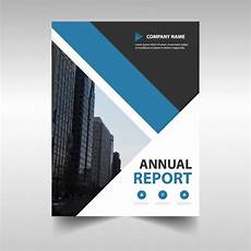 Professional Report Cover Page Blue Geometric Professional Annual Report Template Vector