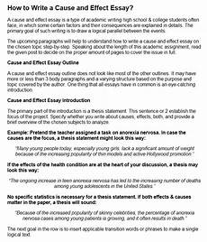 Cause And Effect Essay Format How To Write A Cause And Effect Essay Examples At Kingessays 169