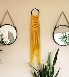sunflower yellow hoop macrame wall hanging