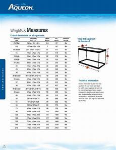 Powerhead Size Chart Aqueon Tank Charts For Tempered Glass Dendroboard
