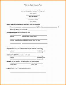 Resume Form Pdf 10 Fill In Resume Template Pdf Professional Resume List