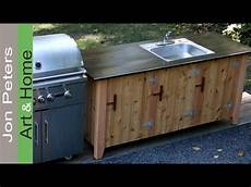 how to build an outdoor kitchen cabinet part 2