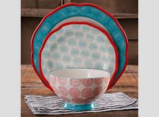 The Pioneer Woman Happiness Scalloped 12 Piece Dinnerware